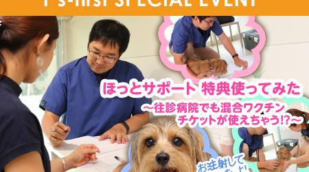ほっとサポート 特典使ってみた ~往診病院でも混合ワクチンチケットが使えちゃう!?~